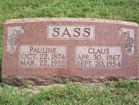 SASS, CLAUS - Pottawattamie County, Iowa | CLAUS SASS