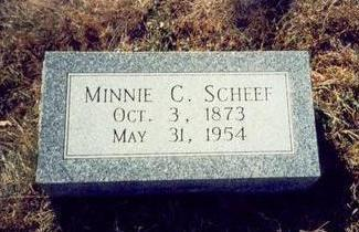 SCHEEF, MINNIE C. - Pottawattamie County, Iowa | MINNIE C. SCHEEF