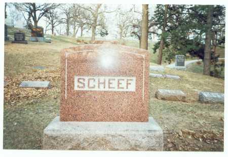 SCHEEF, MARKER - Pottawattamie County, Iowa | MARKER SCHEEF
