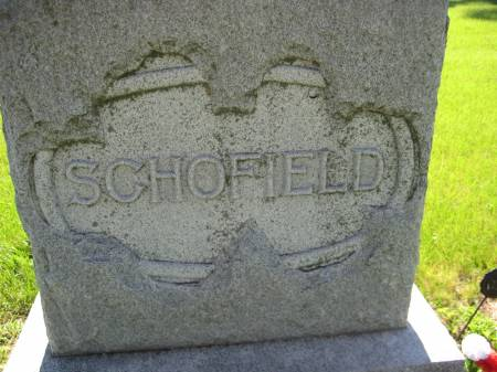SCHOFIELD, FAMILY STONE - Pottawattamie County, Iowa | FAMILY STONE SCHOFIELD