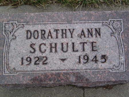 HINZ SCHULTE, DORATHY - Pottawattamie County, Iowa | DORATHY HINZ SCHULTE