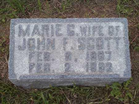 SCOTT, MARIE G. - Pottawattamie County, Iowa   MARIE G. SCOTT