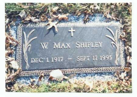 SHIPLEY, W. MAX - Pottawattamie County, Iowa   W. MAX SHIPLEY