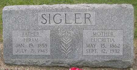 SIGLER, LUCRETIA - Pottawattamie County, Iowa   LUCRETIA SIGLER