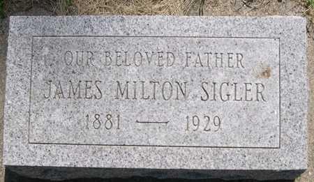 SIGLER, JAMES MILTON - Pottawattamie County, Iowa   JAMES MILTON SIGLER
