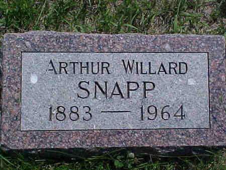 SNAPP, ARTHUR - Pottawattamie County, Iowa   ARTHUR SNAPP