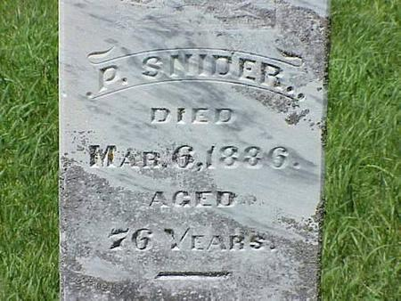 SNIDER, P. - Pottawattamie County, Iowa | P. SNIDER