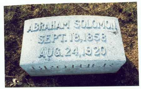 SOLOMAN, ABRAHAM - Pottawattamie County, Iowa   ABRAHAM SOLOMAN