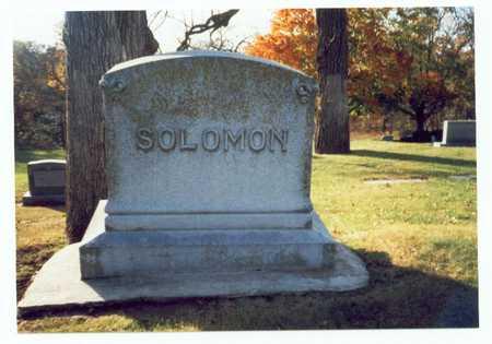 SOLOMAN, FAMILY MARKER - Pottawattamie County, Iowa   FAMILY MARKER SOLOMAN