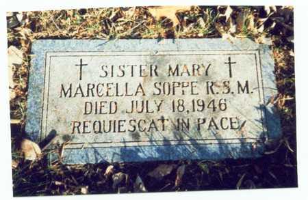 SOPPE, MARY MARCELLA - Pottawattamie County, Iowa | MARY MARCELLA SOPPE