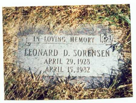 SORENSEN, LEONARD D. - Pottawattamie County, Iowa | LEONARD D. SORENSEN