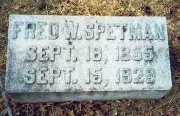 SPETMAN, FRED W. - Pottawattamie County, Iowa | FRED W. SPETMAN
