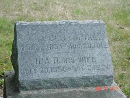 SPIKER, JOE F. & IDA D. [INSCRIPTION] - Pottawattamie County, Iowa | JOE F. & IDA D. [INSCRIPTION] SPIKER