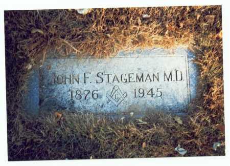 STAGEMAN, JOHN FREDERICK - Pottawattamie County, Iowa   JOHN FREDERICK STAGEMAN
