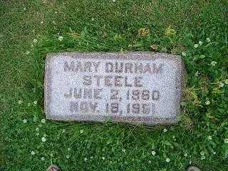 DURHAM STEELE, MARY - Pottawattamie County, Iowa | MARY DURHAM STEELE