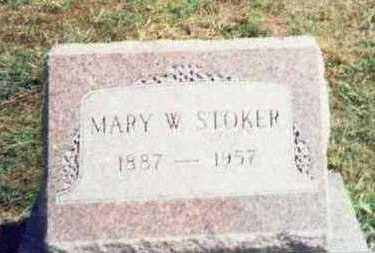STOKER, MARY W. - Pottawattamie County, Iowa   MARY W. STOKER