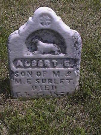SUBLET, ALBERT . E - Pottawattamie County, Iowa   ALBERT . E SUBLET