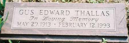 THALLAS, GUS EDWARD - Pottawattamie County, Iowa   GUS EDWARD THALLAS