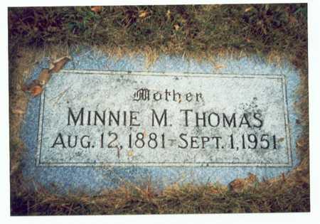 THOMAS, MINNIE M. - Pottawattamie County, Iowa | MINNIE M. THOMAS