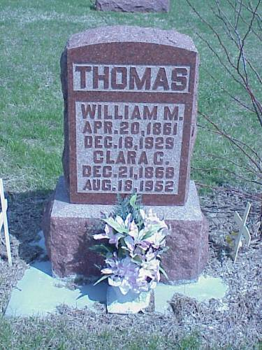 THOMAS, WILLIAM M. & CLARA C. - Pottawattamie County, Iowa | WILLIAM M. & CLARA C. THOMAS