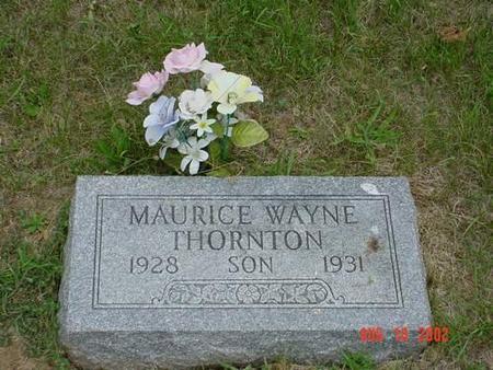 THORNTON, MAURICE WAYNE - Pottawattamie County, Iowa   MAURICE WAYNE THORNTON