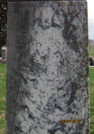 COOK TIMBERMAN, ELIZABETH MARY - Pottawattamie County, Iowa | ELIZABETH MARY COOK TIMBERMAN