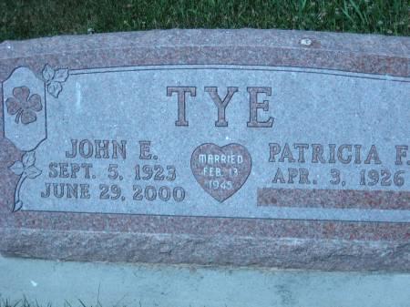 TYE, JOHN E. - Pottawattamie County, Iowa | JOHN E. TYE