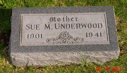 UNDERWOOD, SUE M - Pottawattamie County, Iowa   SUE M UNDERWOOD