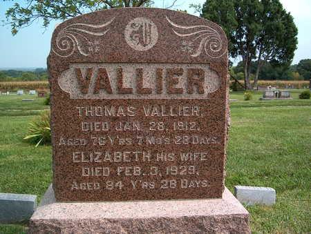 VALLIER, ELIZABETH - Pottawattamie County, Iowa | ELIZABETH VALLIER