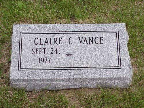 VANCE, CLAIRE C. - Pottawattamie County, Iowa | CLAIRE C. VANCE