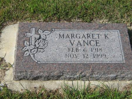 VANCE, MARGARET K. - Pottawattamie County, Iowa | MARGARET K. VANCE