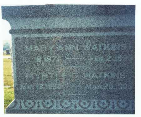 WATKINS, MYRTLE GLADYS - Pottawattamie County, Iowa | MYRTLE GLADYS WATKINS