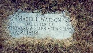 MCDANIEL WATSON, MABEL C. - Pottawattamie County, Iowa | MABEL C. MCDANIEL WATSON