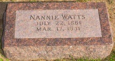 WATTS, NANNIE - Pottawattamie County, Iowa | NANNIE WATTS