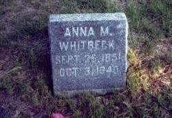 CRAMER WHITBECK, ANNA MARIA - Pottawattamie County, Iowa | ANNA MARIA CRAMER WHITBECK