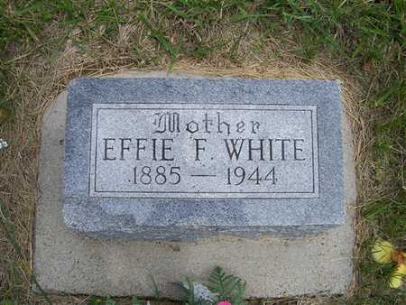 WHITE, EFFIE F. - Pottawattamie County, Iowa   EFFIE F. WHITE