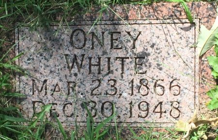 WHITE, ONEY - Pottawattamie County, Iowa | ONEY WHITE