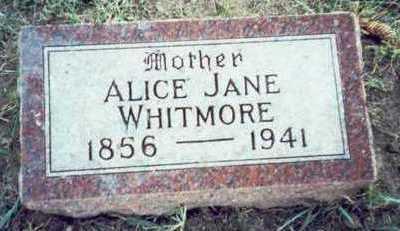 WHITMORE, ALICE JANE - Pottawattamie County, Iowa | ALICE JANE WHITMORE