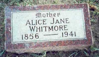 DOWNS WHITMORE, ALICE JANE - Pottawattamie County, Iowa | ALICE JANE DOWNS WHITMORE