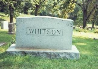 WHITSON, MARKER - Pottawattamie County, Iowa | MARKER WHITSON