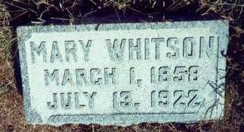WHITSON, MARY - Pottawattamie County, Iowa | MARY WHITSON