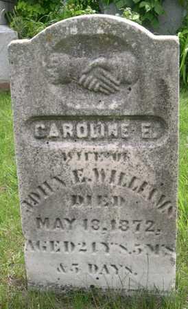 WILLIAMS, CAROLINE E. - Pottawattamie County, Iowa   CAROLINE E. WILLIAMS