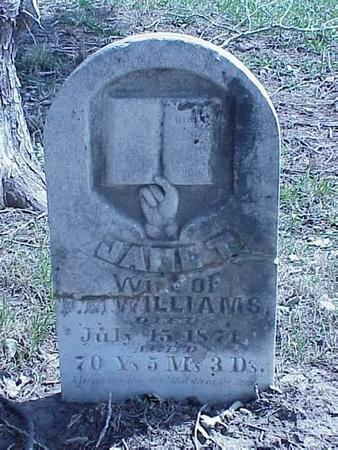WILLIAMS, JANE - Pottawattamie County, Iowa   JANE WILLIAMS