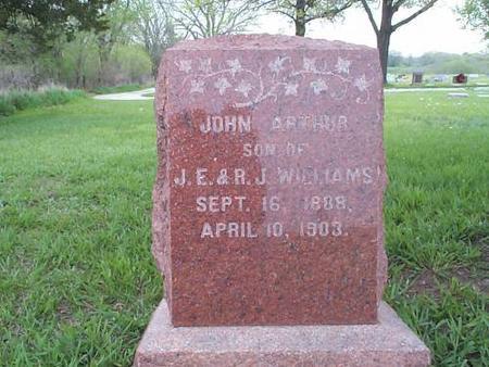 WILLIAMS, JOHN ARTHUR - Pottawattamie County, Iowa | JOHN ARTHUR WILLIAMS