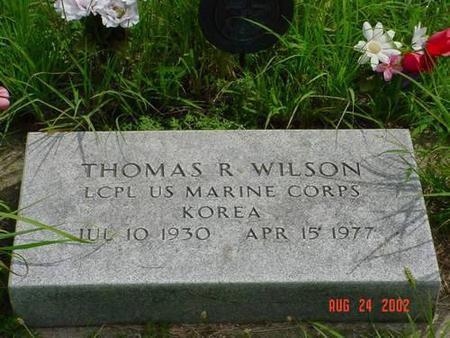WILSON, THOMAS R. [INSCRIPTION] - Pottawattamie County, Iowa | THOMAS R. [INSCRIPTION] WILSON