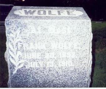 WOLFE, FRANK - Pottawattamie County, Iowa | FRANK WOLFE