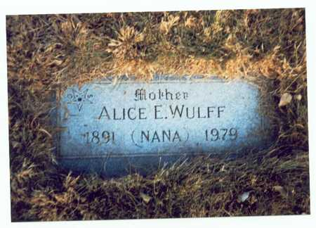 WULFF, ALICE E. - Pottawattamie County, Iowa | ALICE E. WULFF