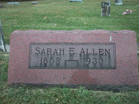 ALLEN, SARAH E. - Poweshiek County, Iowa   SARAH E. ALLEN
