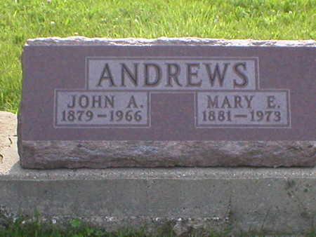 ANDREWS, JOHN ARTHUR - Poweshiek County, Iowa   JOHN ARTHUR ANDREWS