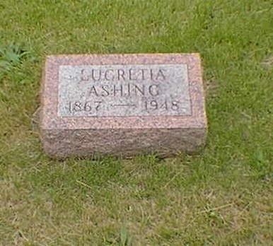ASHING, LUCRETIA - Poweshiek County, Iowa | LUCRETIA ASHING